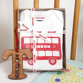 Personalised Baby Grow And Bib Gift Set