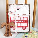 Personalised Baby Grow And Bib Gift Set