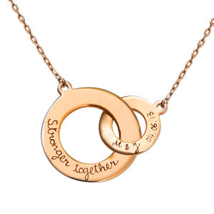 Lover's Gold Plated Intertwined Necklace - necklaces & pendants