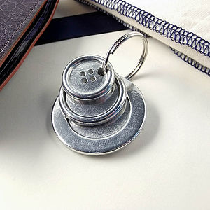 Button Keyrings For Her Or For Him