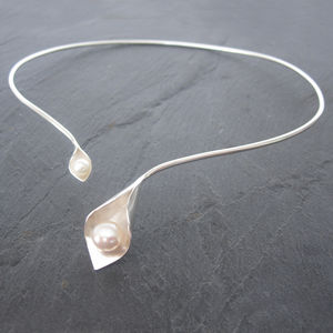 Calla Lily Neck Torque - necklaces & pendants