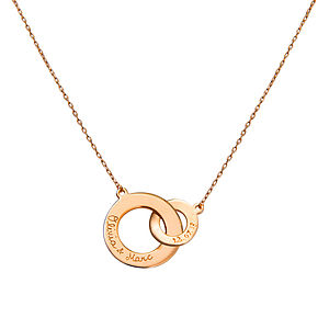 Woman's Gold Plated Intertwined Necklace - necklaces & pendants