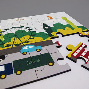 Personalised 'London Traffic' Jigsaw - london-themed