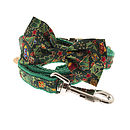 Traditional Christmas Bow Tie Dog Collar