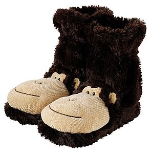 Fluffy Monkey Slippers