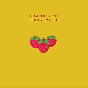 'Thank You Berry Much' Card - funny cards