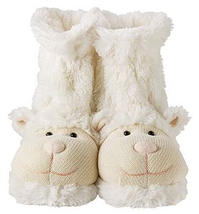 Fluffy Lamb Slippers - children's slippers