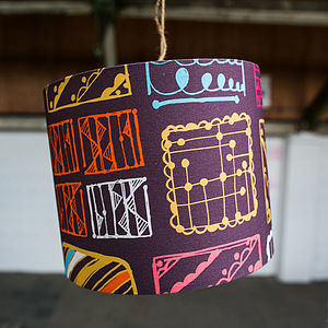 Doodle Squares Lampshade And Ceiling Pendant