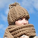 Toffee Bobble Hat
