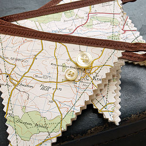 Map Bunting - outdoor decorations