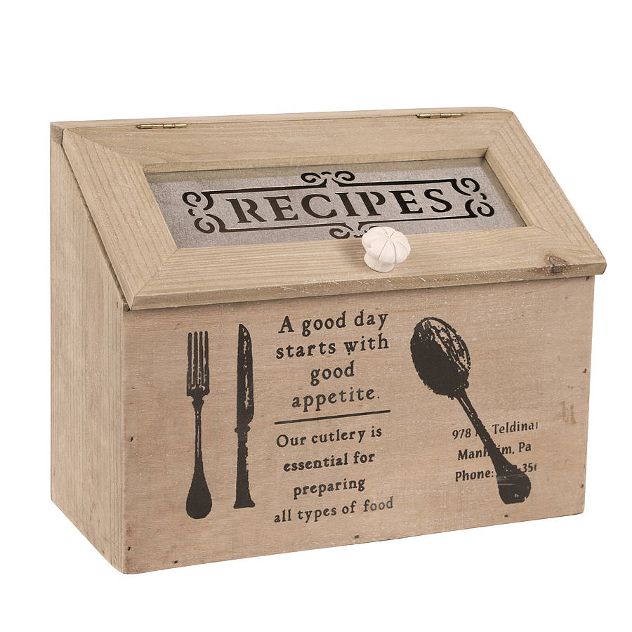 Recipe Cards And Box Storage Box For Recipe Cards