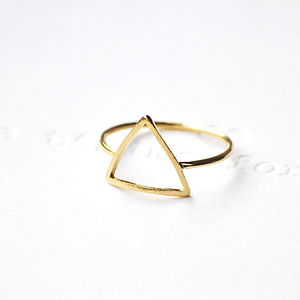 Triangle Ring Gold - rings