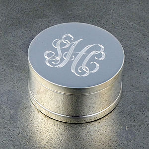 Monogrammed Sterling Silver Box - storage