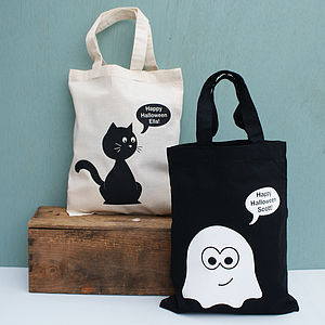 Personalised Halloween Shopper Bag - trick or treat bags