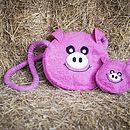 Handmade Felt Animal Purse