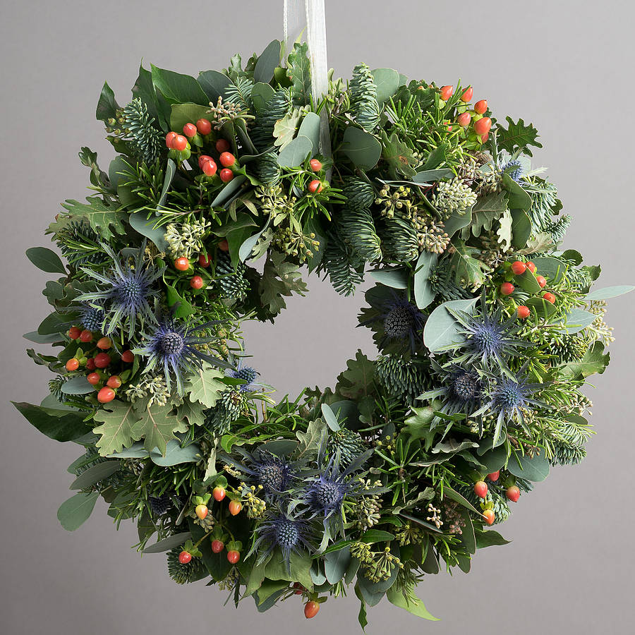 10 off highland festive door wreath by the flower studio Christmas wreath decorations