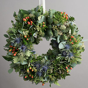 Highland Festive Door Wreath - wreaths