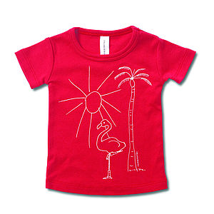Venice Beach And Flamingo Graphic T