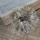 Silver Flower Brooch