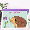 Happy Hedgehog Birthday Card