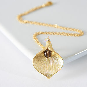Gold Plated Lily Necklace - necklaces & pendants