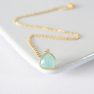 Gold Aventurine Faceted Necklace - women's jewellery