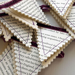 Jane Austen Christmas Tree Bunting - tree decorations
