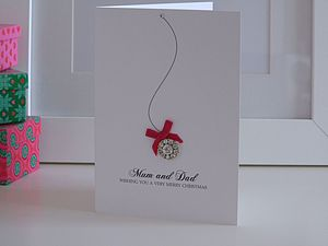 Christmas Sparkle Personalised Card - cards