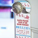 Set Of Two 'Santa Stop Here' Door Signs