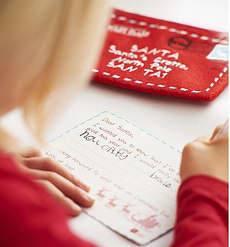 Letter To Santa With Embrodiered Envelope