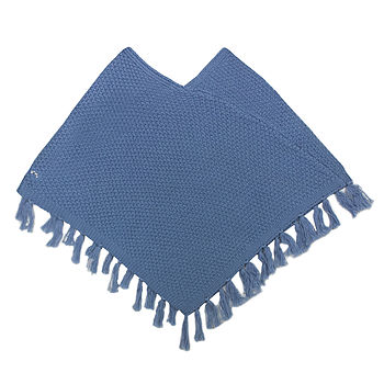 French Design Girls Knitted Poncho