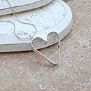 Personalised Silver Secret Heart Necklace