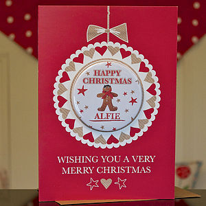 Luxury Personalised Magnet Christmas Card - cards & wrap