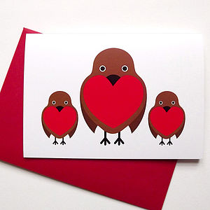 Christmas Robin Card - shop by category