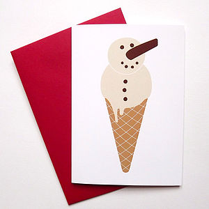 Snowman Christmas Card - cards
