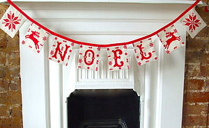 Make Your Own Christmas Bunting Kit