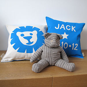 Little Lion Personalised Cushion