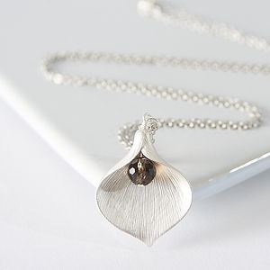 Silver Plated Lily Necklace