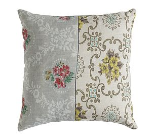 Vintage Style Floral Cushion