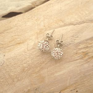 Crystal Disco Ball Earrings