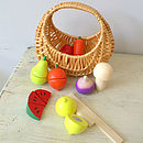 Fruit And Vegetables Play Set In Basket