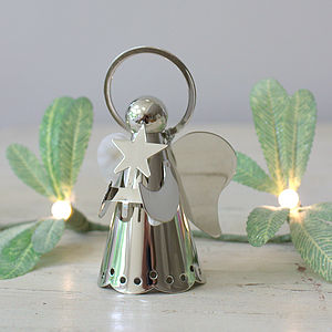 Silver Angel Christmas Decoration - tree toppers