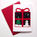 Christmas snow cards