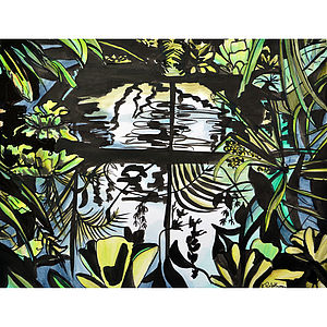 Window To The Exotic Original Painting