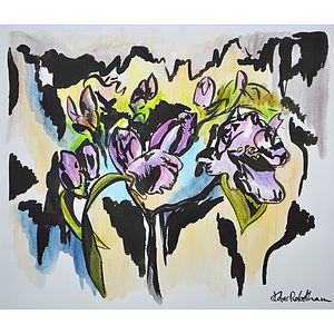 Spring Orchids Original Painting