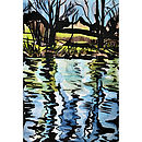 Blustery River Nene Original Painting Full