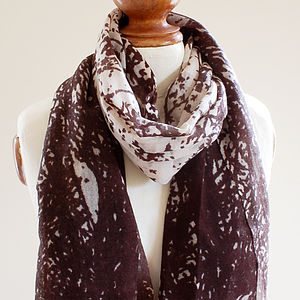 Abstract Pure Wool Scarf