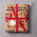 The packed Letterpress Personalised Christmas Sack