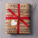 The packed Burlington Personalised Christmas Sack