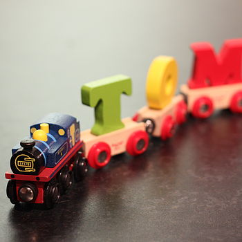 Personalised Colourful Name Train